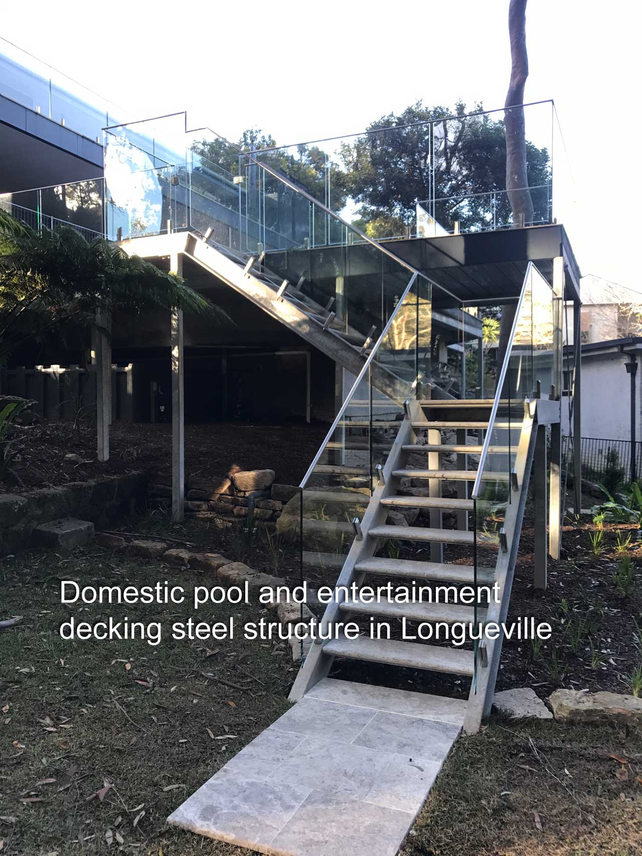 Domestic Pool And Entertainment Decking Steel Structure In